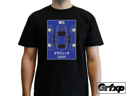 Lancer Evolution X BluePrint T-Shirt