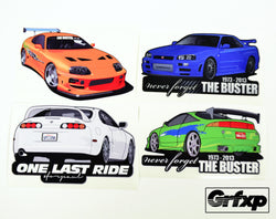 Never Forget the Buster Sticker Collection