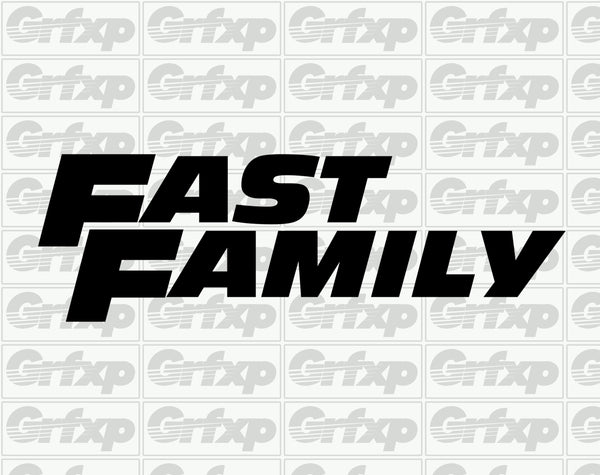 Fast Family Sticker
