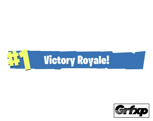 #1 Victory Royale Fortnite Printed Sticker