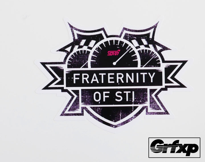 Fratenity of STi Printed Sticker