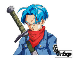 Future Trunks Printed Sticker