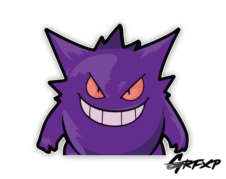 Gengar Peeker Printed Sticker