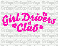 Girl Drivers Club Sticker