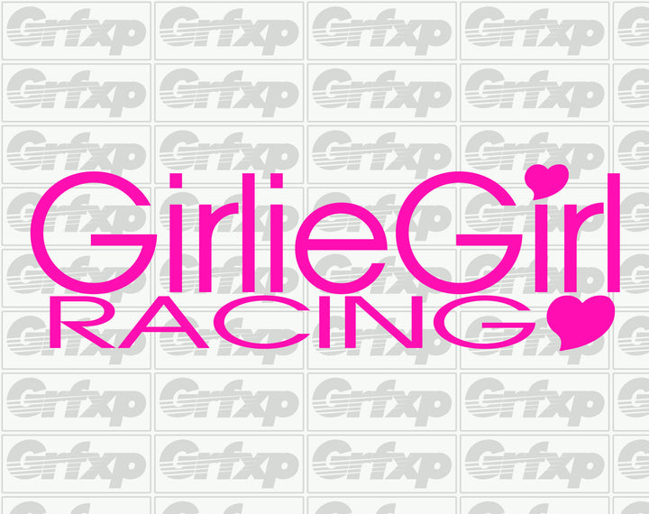 Girlie Girl Racing Sticker