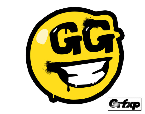 "Good Game ""GG"" Emote Spray Fortnite Printed Sticker (two-pack)"