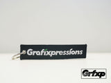 Grafixpressions - Unique Starts Here Embroidered Keychain