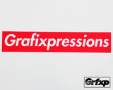 "GRFXP Box ""Supreme Style"" Printed Sticker"