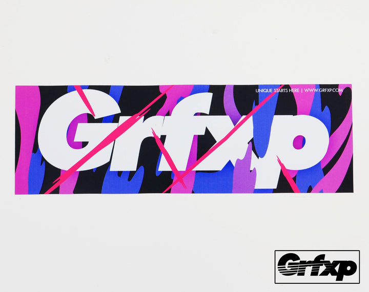 GRFXP Color Splash Printed Sticker