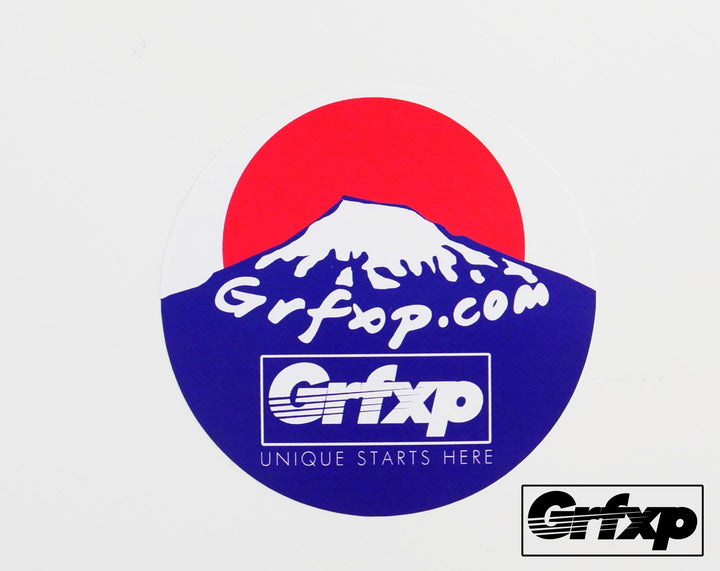 GRFXP Mount Fuji Printed Round Sticker
