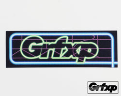 GRFXP Neon Sign Printed Sticker