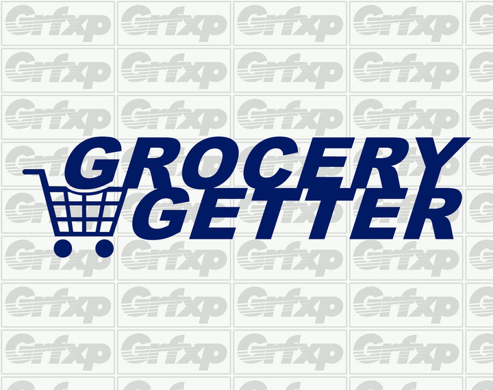Grocery Getter (Shopping Cart Style) Sticker
