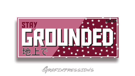 Stay Grounded Printed Slap