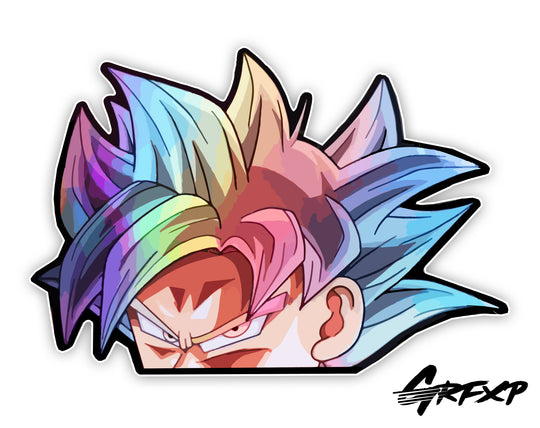 UI Goku Peeker Printed Sticker