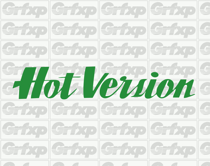 Hot Version Sticker