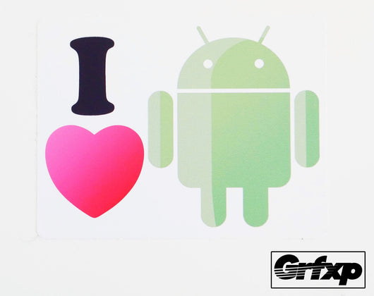I Heart Android Limited Edition Vinyl Decal