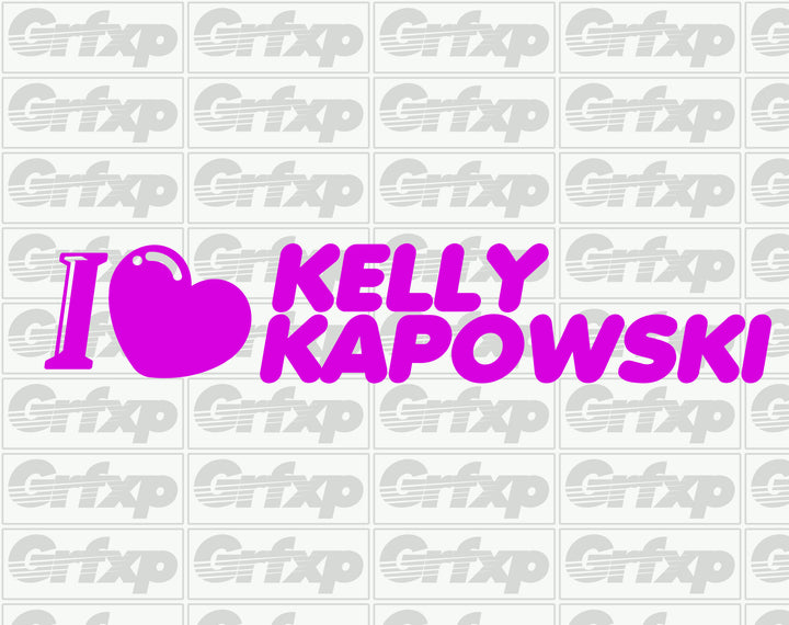 I Heart Kelly Kapowski Sticker