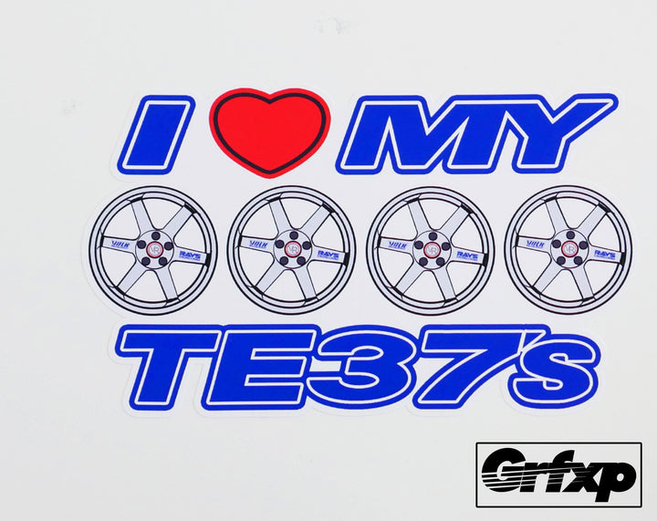 I Heart My TE-37's Printed Sticker