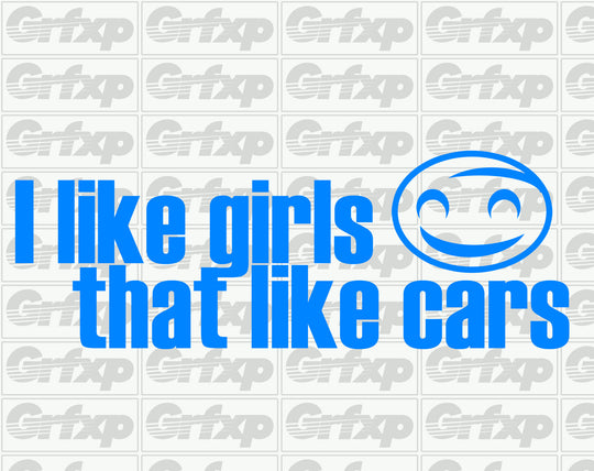 I Like Girls That Like Cars Sticker
