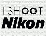 I Shoot Camera Brand Sticker