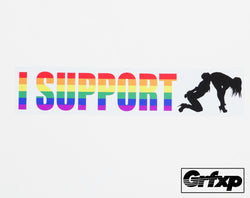 I Support (HOT) Lesbians Printed Sticker