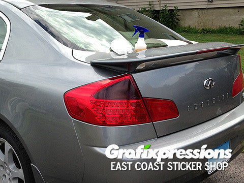 Taillight Signal/Blinker Area Overlays for Infiniti G35 Sedan (2003/2004)