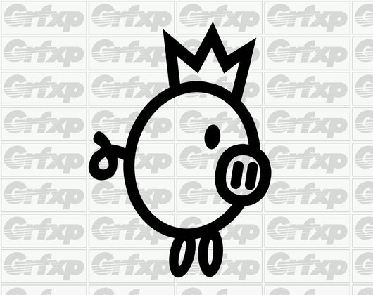King Piggy Sticker