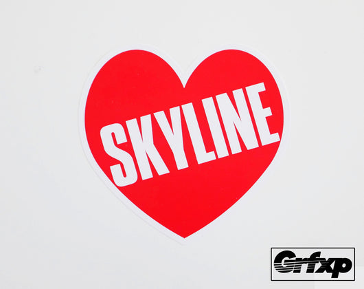 Skyline Heart Printed Sticker