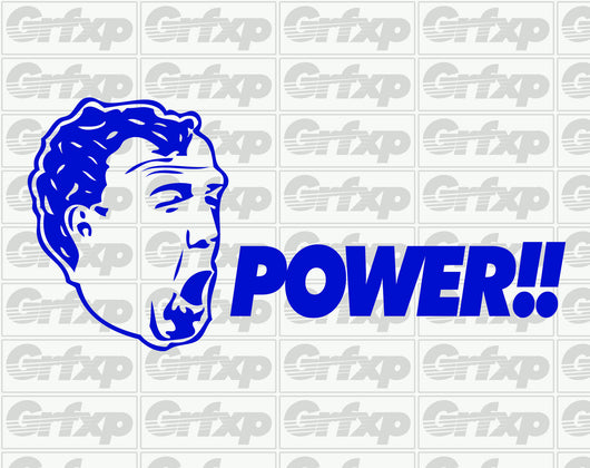 Jeremy Clarkson POWER Sticker