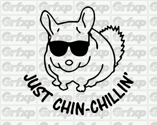 Just Chin Chillin' Sticker