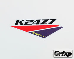 K24Z7 Crew Printed Sticker