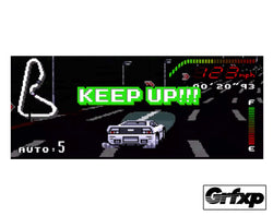 KEEP UP TopGear 16-bit Style Printed Sticker