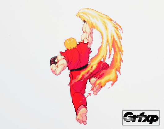 Ken Shoryuken Street Fighter Series Printed Sticker