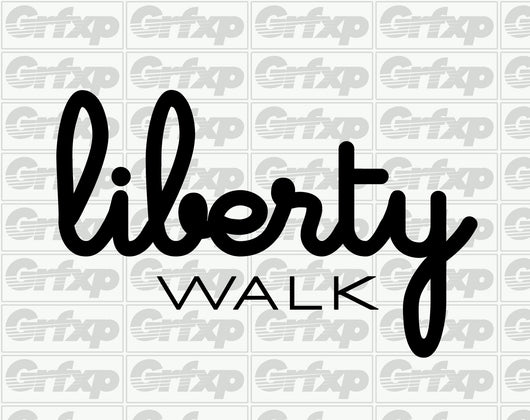 Liberty Walk Bubble Design Sticker