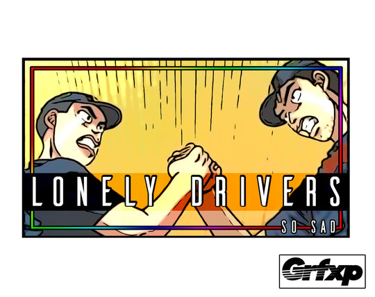 Lonely Drivers (Initial-D) Slap Sticker