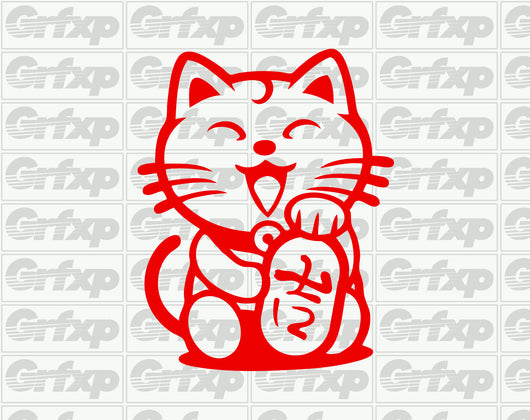 JDM Lucky Cat Sticker