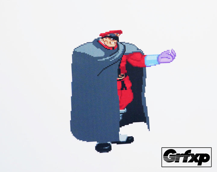 M.Bison Cape Street Fighter Series Printed Sticker