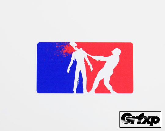 Major League Zombie Killer Printed Sticker