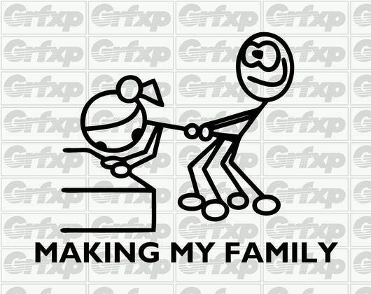 Making My Family Stick Figure Sticker