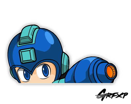 Mega Man Peeker Printed Sticker