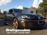 Fog Light Overlays for MK6 VW Golf / GTI / Golf R (2dr/4dr)