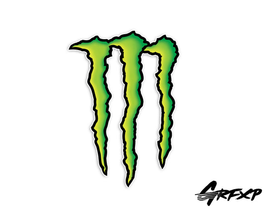 Monster Energy Printed Sticker