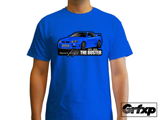 Never Forget the Buster, Skyline R34 T-Shirt