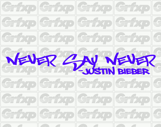 Never Say Never, Bieber Sticker