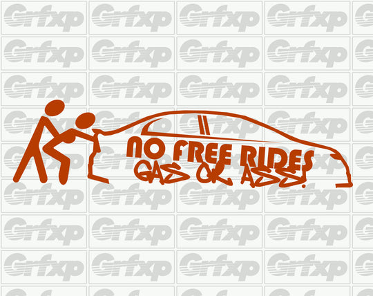 FA Sedan Gas or Ass Sticker