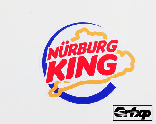 NurburgKing (Burger King Parody) Printed Sticker