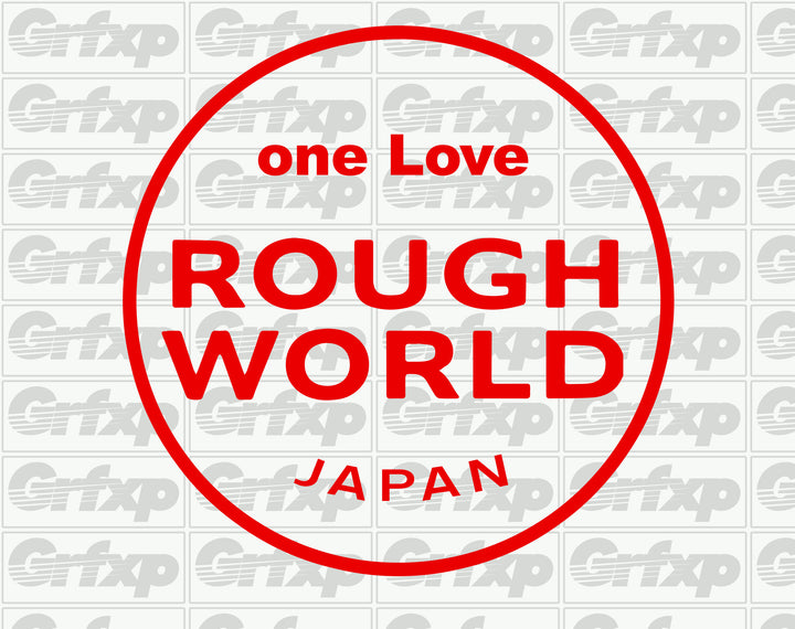 one Love Rough World Sticker