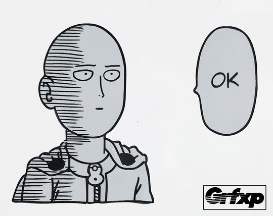 One Punch Man, Saitama OK Printed Sticker