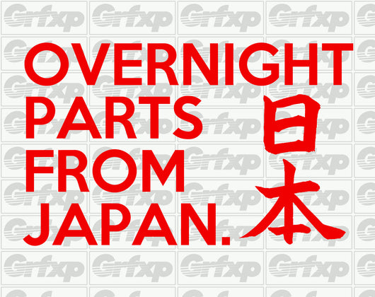 Overnight Parts From Japan Sticker