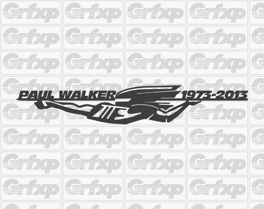 Paul Walker 1973-2013 Supra Graphic Sticker